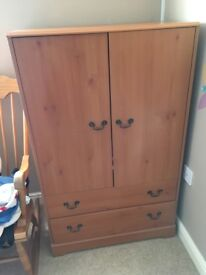 Pine Bed, drawers/changing table and wardrobe