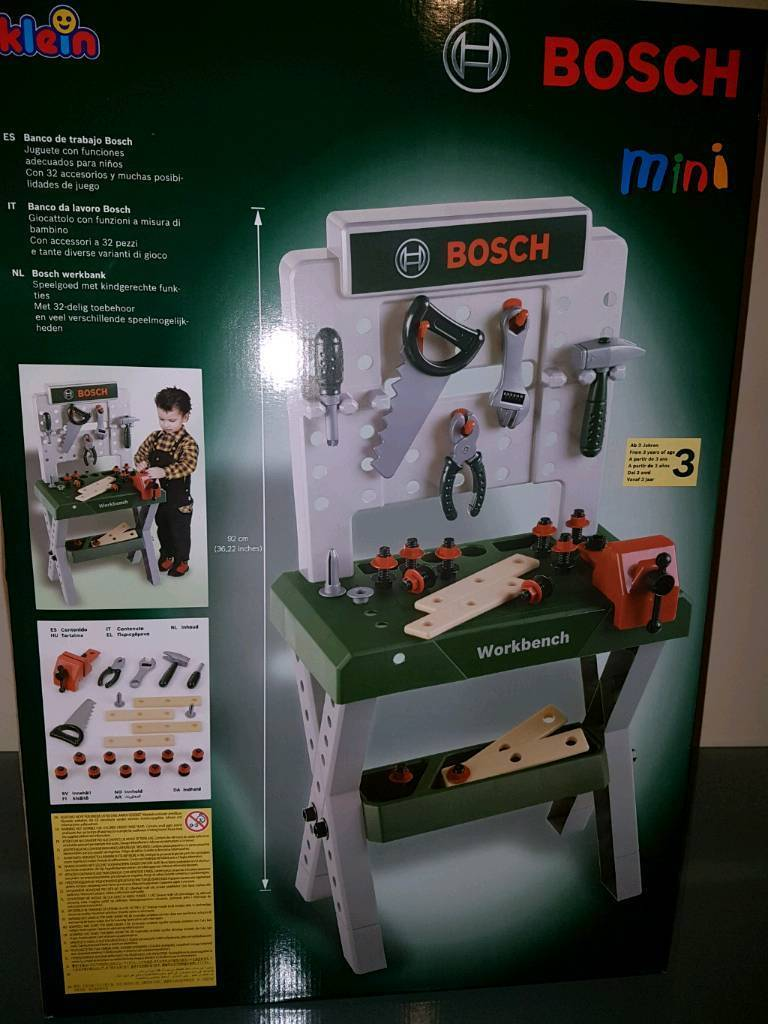 bosch toy mini workbench | in leicester, leicestershire | gumtree