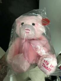 Keel toys pink teddy Job lot