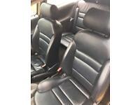 full black leather interior
