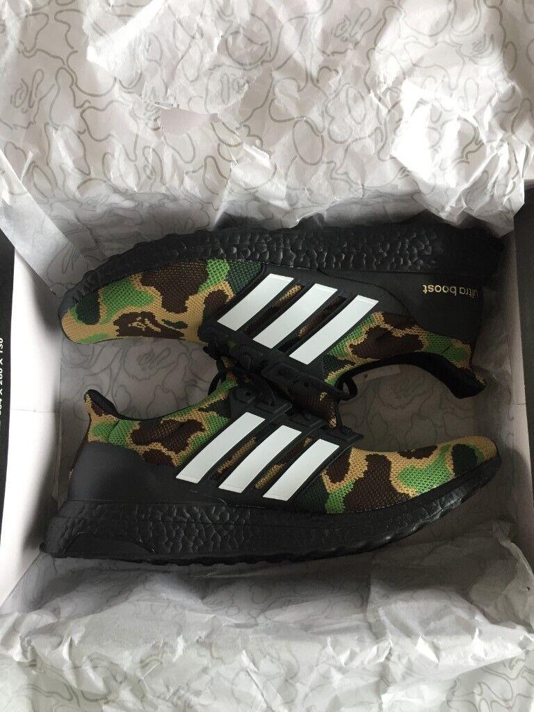 pretty nice 3a8ef d1860 Adidas X Bape Ultraboost Green Camo size 11 US 11.5 RARE DS