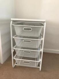 Ikea storage - shelves / drawers (Algot frame)