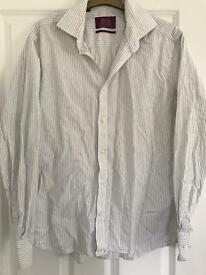 Men's striped, patterned shirt