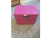 Pink 3 tier stacker Jewellery box