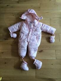 Snowsuit girl 9 months