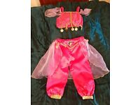 FANCY DRESS - GIRLS PRINCESS JASMIN HAREM PANTS AND TOP COSTUME BY GEORGE SIZE 3-4 YEARS