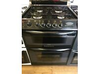 CANNON 60CM DUAL FUEL COOKER IN BROWN WITH LID