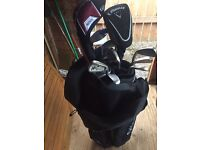 Full set of macgregor 501 irons , bag and trolley