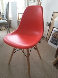 Replica Eames Eiffel chair in red, free delivery