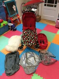 Bugaboo bee plus and full set of accessories