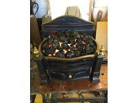 Cast iron basket fire and fan heater