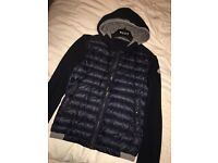 MONCLER MENS QUILTED FRONT SWEATSHIRT size medium (fits like a small)
