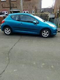 Peugeot 207 Sport 1.4 Low Mileage Blue Cheap Insurance 3 Door Manual Petrol Hatchback Mot'd