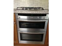 Kitchen Appliances Silver/Electric Oven and Gas Hob