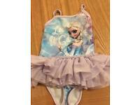 Girls Frozen swimming costume age 9 -12 months