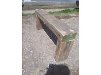 RUSTIC SOLID TIMBER BENCH