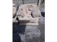 3 seater and 1 seater fabric sofa