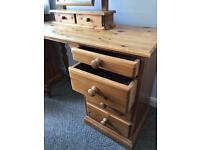Pine Dressing Table and Swing Mirror