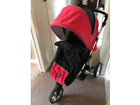 Three wheel Britax Buggy for sale. Very sturdy and reclines fully. Cosy toes cover included.