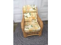 Wicker conservatory furniture with cushions