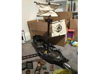 Lego pirate ship and pieces.