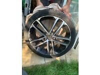 VW Golf GTD 2015 alloy wheel with tyre