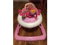 Baby girls bright stars baby walker