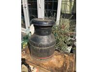 vintage milk churn garden ornament wedding prop shop decoration