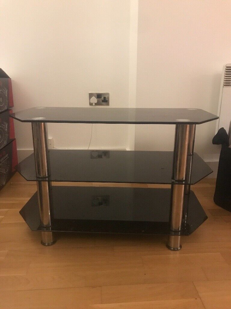 Black And Silver Tv Stand In Manchester City Centre Manchester