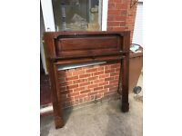 Walnut Finish, Solid Wood Fire Surround 60-70's - Good Condition
