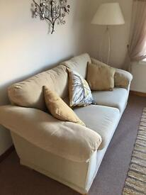 Cream sofa immaculate condition!!