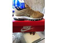 2017 Nike air max 97 Gold Bullets