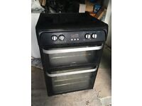 Hotpoint HUI614K Electric Cooker | Induction Hob | Double Oven