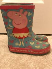 Peppa Pig wellies infant size 7-great condition