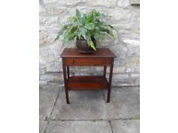 SMALL VINTAGE OCCASIONAL /HALL TABLE VERY NICE STAINED PINE