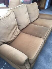 3 seater sofa with 2 matching armchairs