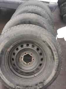 TOYOTA TACOMA HIGH PERFORMANCE MICHELIN LATITUDE XICE  WINTER TIRES 265 / 70 / 17 ON STEEL RIMS