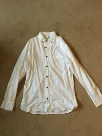 Mens River Island White Shirt - Size Small
