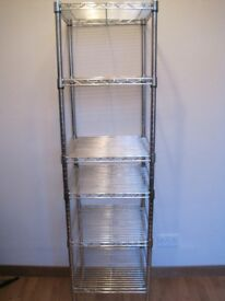 WHITMOR Supreme Stacking shelf,Chrome,Wire grid steel- comercial grade,up to 200 lb capacity