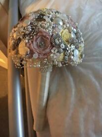 Wedding bouquet diamanté & pearl