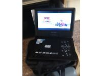 Portable DVD player and carry case immaculate condition as hardly ever used