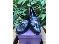 a5b7da09fcd Carvela Kurt Geiger Manor Ladies Tassel Loafer Black Leather