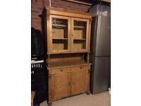 Welsh Dresser with enclosed glass-fronted cupboard and lots of storage