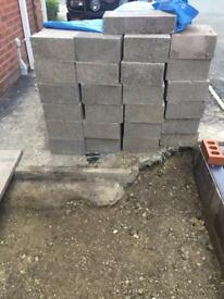 Trench foundation concrete block