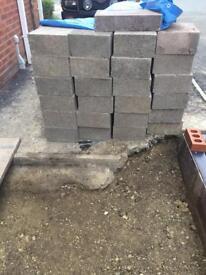 Trench foundation concrete block