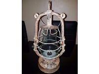 50s 60s VINTAGE HURRICANE PARAFFIN STORM OIL LAMP