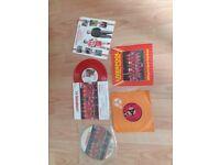 5 x liverpool fc vinyl singles , picture disc