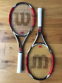 Wilson K Factor Six One 95 Tennis Rackets. Grip 4. Fabulous Condition!