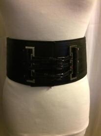 Karen Millen black 3 buckle belt