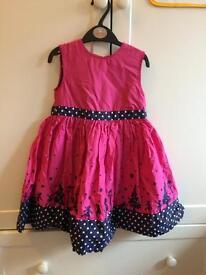 3-4 Jojo mama dress- Christmas party design